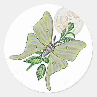 Luna Moth Round Sticker