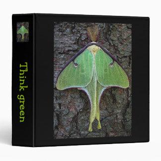 Luna Moth Think Green Binder