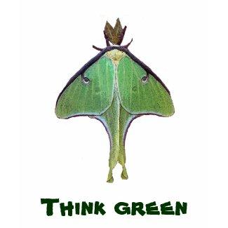 Luna Moth Think Green shirt