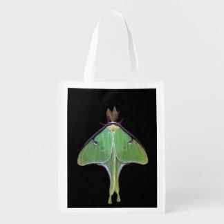 Luna Moth Reusable Grocery Bags