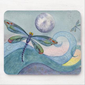 Luna Mousepad de la libélula Tapete De Ratones