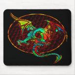 Luna Mousepad del dragón Tapetes De Ratones