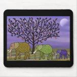 Luna Mousepad del elefante Alfombrillas De Raton