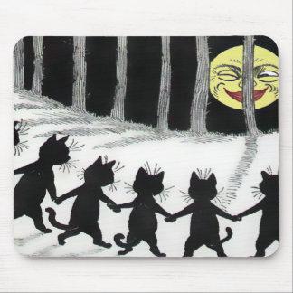 Luna Mousepad del gato negro de Louis Wain Alfombrilla De Ratones