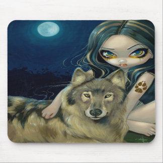 """Luna"" Mousepad del lobo Tapete De Raton"