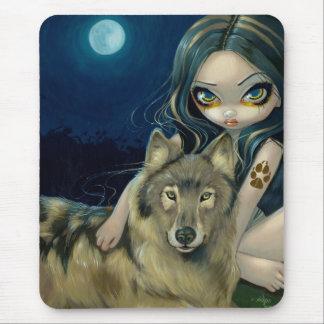 Luna Mousepad del lobo Tapete De Raton