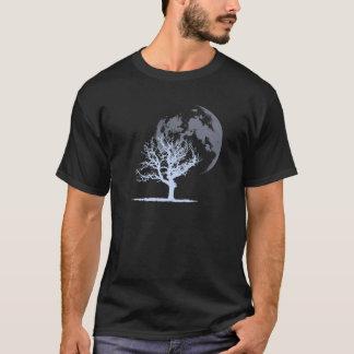 Luna muerta del árbol (oscura) playera