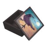 Luna negra del cuervo cajas de recuerdo de calidad