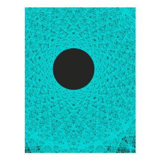 luna negra que irradia la luz de los azules claros tarjeta postal