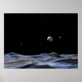 Luna Nueva alrededor de Plutón Póster