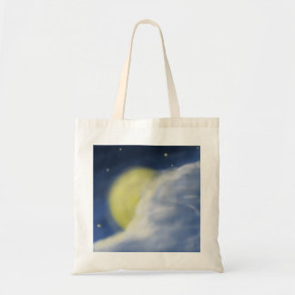 Luna ocultada en parte por una nube bolsa tela barata