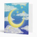 Luna pálida en azul