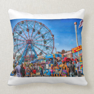 Luna Park - Coney Island - Brooklyn - New York Throw Pillow