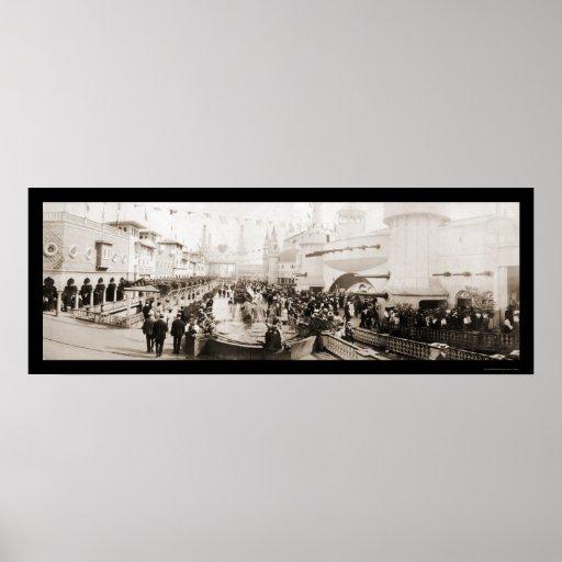 Luna Park Coney Island Photo 1903 Poster