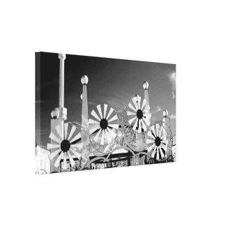 'Luna Park Entrance' Wrapped Canvas Print