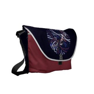 Luna patriótica del trueno bolsas de mensajeria