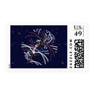 Luna patriótica del trueno sellos