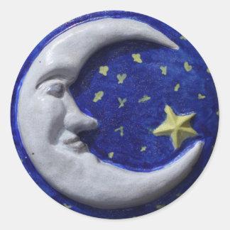 Luna Pegatina Redonda