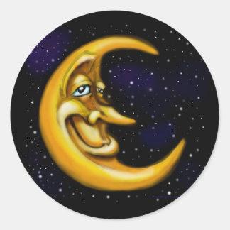 Luna Etiquetas Redondas