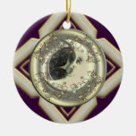 Luna personalizada alrededor del ornamento ornamento para arbol de navidad