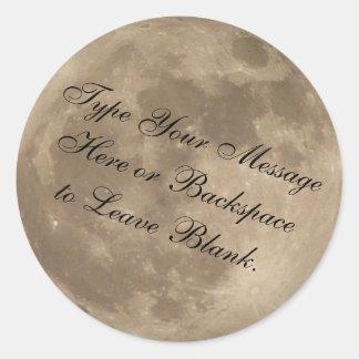 Luna personalizada pegatina de los pegatinas de la