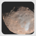 Luna Phobos 2 de Marte Pegatina Cuadrada