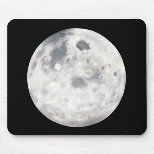 Luna pintada en negro tapete de ratones