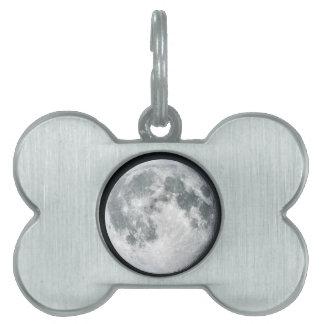 Luna Placas De Nombre De Mascota