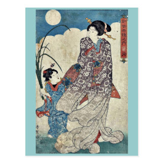 Luna por Utagawa, Kunisada Ukiyoe Postal