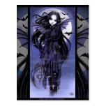 Luna púrpura de hadas Morgan Postcad del palo de v Postal
