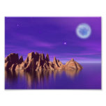 Luna púrpura poster
