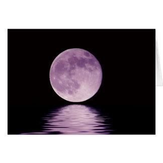 Luna púrpura tarjeta de felicitación