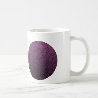 Luna púrpura taza básica blanca