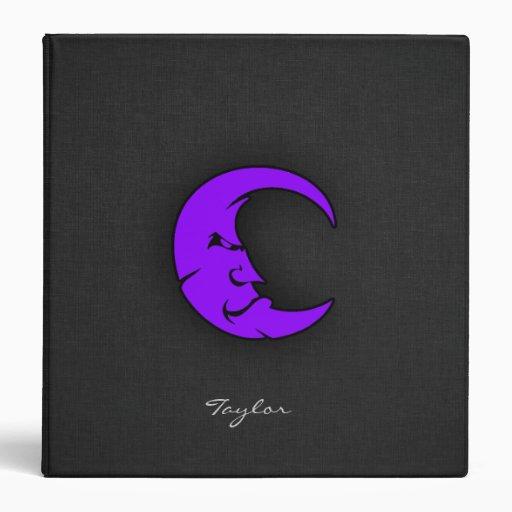 "Luna púrpura violeta carpeta 1 1/2"""