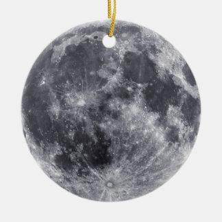 Luna que hace frente al ornamento de la tierra adorno para reyes