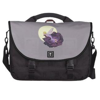 Luna que mira el cielo de hadas de la tarde de la bolsas de portatil