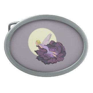 Luna que mira el cielo de hadas de la tarde de la hebilla cinturón oval