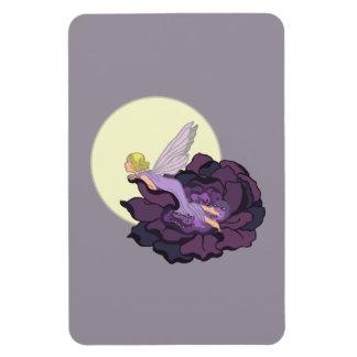Luna que mira el cielo de hadas de la tarde de la imán de vinilo