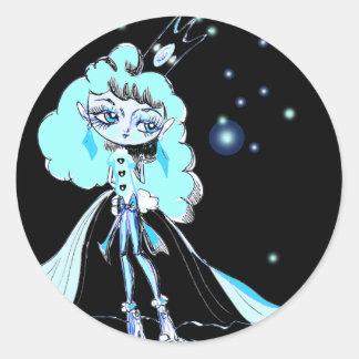 Luna Queen Round Sticker