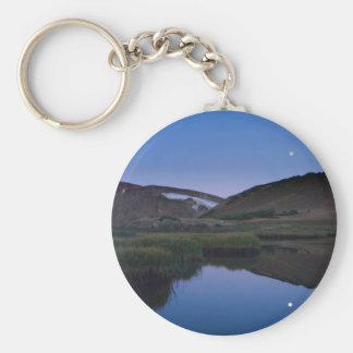 Luna reflectora del lago alpino llavero personalizado