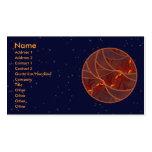 Luna roja ardiente plantillas de tarjetas de visita