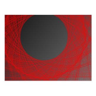 luna roja y negra tarjetas postales