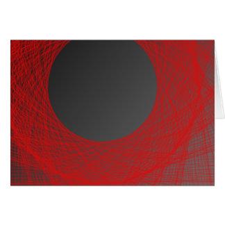 luna roja y negra tarjeton