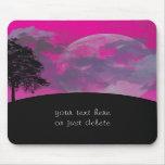 Luna rosada de la fantasía, nubes, personalizado d alfombrillas de raton