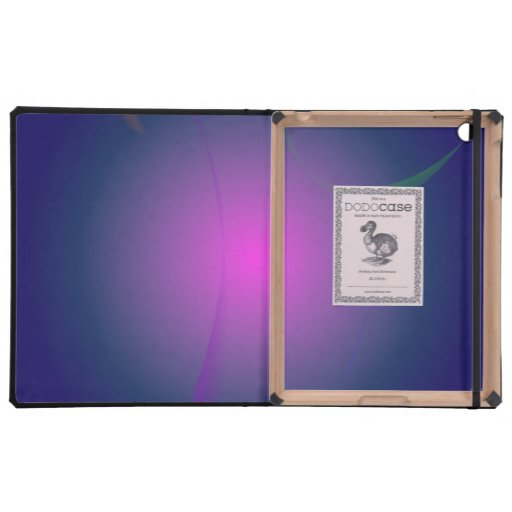 Luna rosada púrpura en el cielo de la marina de iPad funda