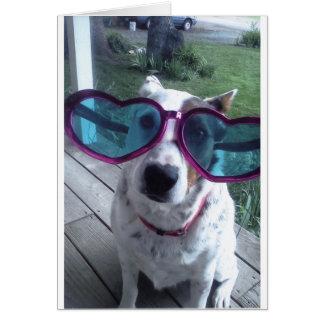 """Luna Says """"Bad Hair Day? Get bigger glasses"""" Greeting Card"""