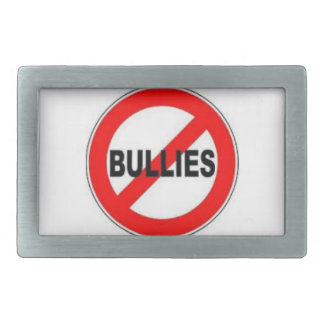 """Luna Says:"""" Bullying is for the Birds!"""" Rectangular Belt Buckle"""