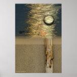 Luna sobre abedul por Gregory Gallo Impresiones