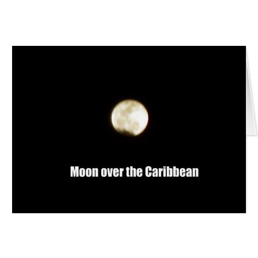 Luna sobre el Caribe Tarjetas