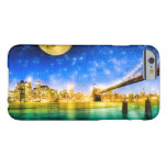 Luna sobre el horizonte de Manhattan - de New York Funda De iPhone 6 Barely There